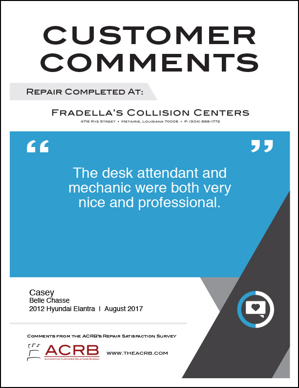 Fradellas Customer Comment 1 8-2017