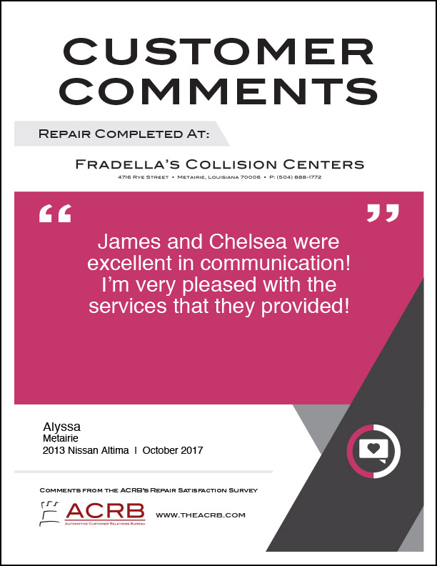 Fradellas Customer Comment 10 10-2017