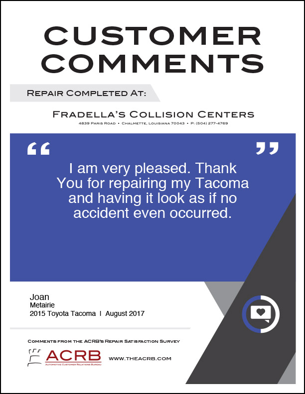 Fradellas Customer Comment 4 8-2017