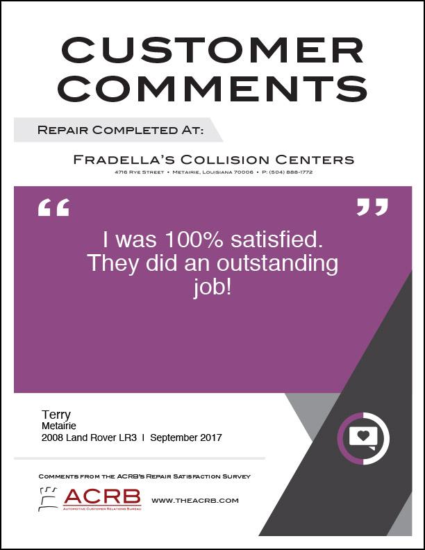 Fradellas Customer Comment 6 9-2017