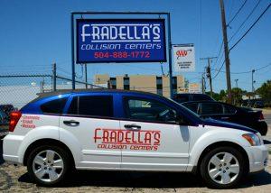 Fradellas Collision Centers Shop Car